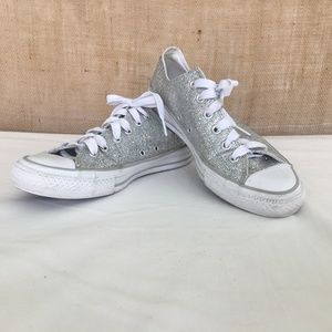 Converse Chuck Taylor Sparkle Silver Sneakers US 9